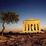 Sicily_Agrigento_Valley_of_Temples_View_byNight
