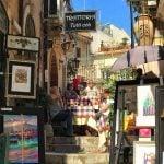 _Sicily_Taormina_Restaurant_On_Steps_Corso_Umberto_View