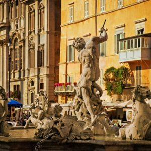 Rome Navona Square Bernini Fountains