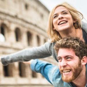 Rome Colosseum Honeymoon Couple