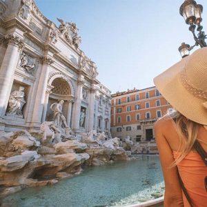 Rome Trevi Fountain Monument