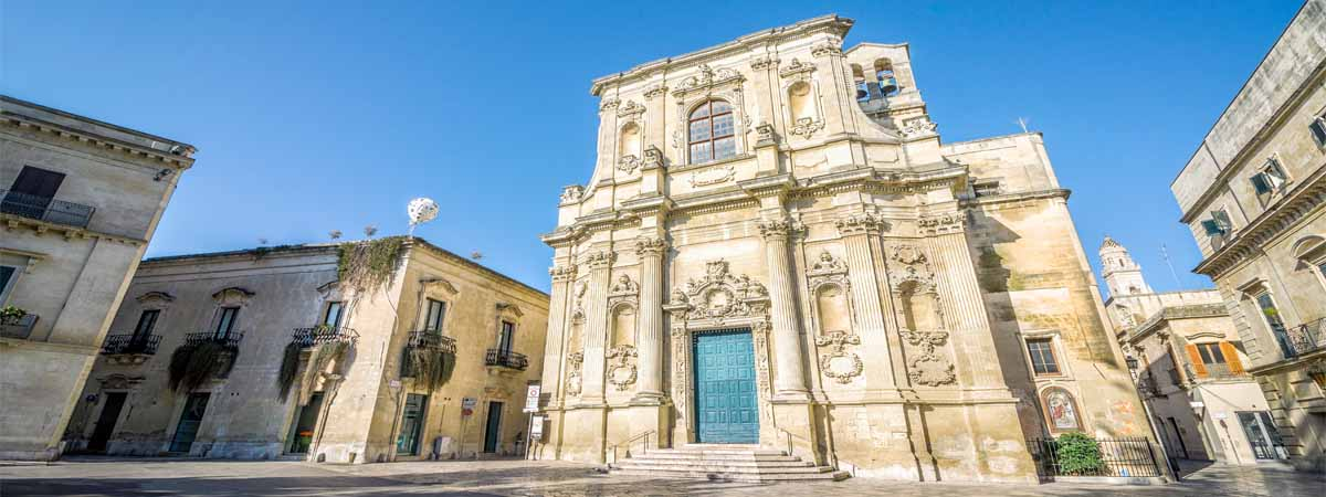 Lecce Old Barocco Church View