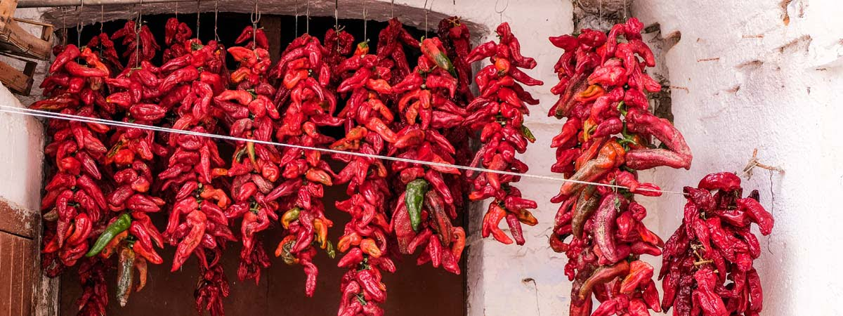 Basilicata food Red Hot Pepper Sun dried