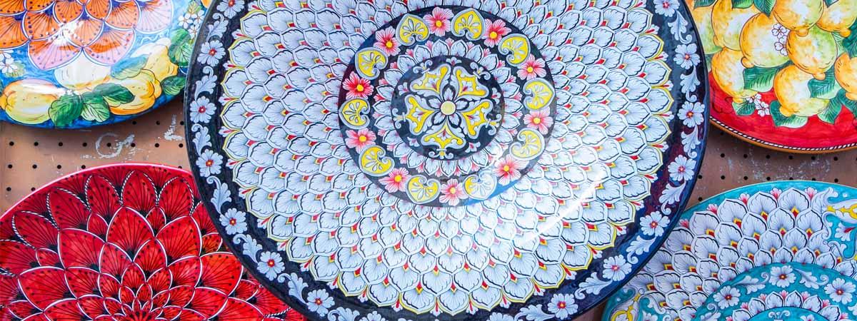 Amalfi Coast Coloreful Ceramics Plates
