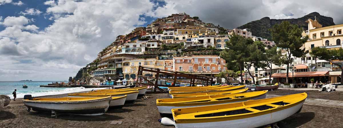 Positano Campania Beach and Town View