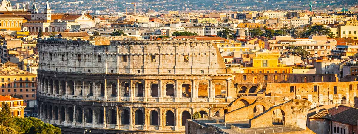 Rome Colosseum Panoramic City View