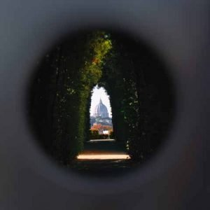 Rome St Peter View Malta Keyhole