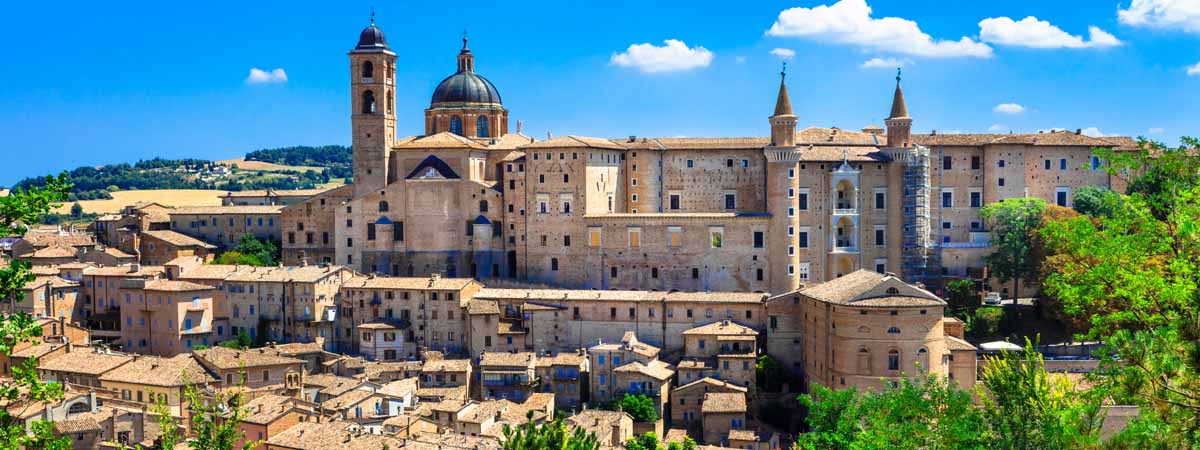 Urbino Marche Medieval City View Ducal Palace