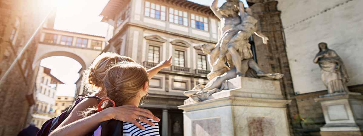 Florence Loggia Dei Lanzi Tuscany Family