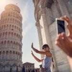 Pisa Leaning Tower Family Play Photo