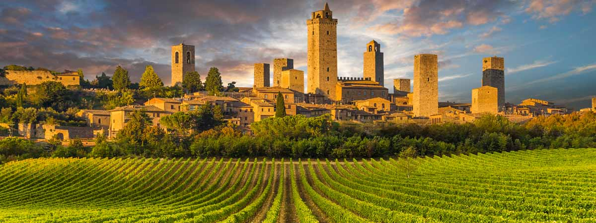 San Gimignano Tuscany Medieval City View