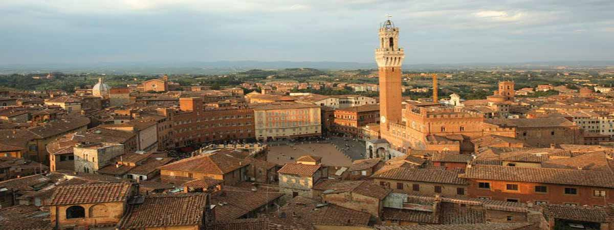 Siena Tuscany Campo Square Areal View