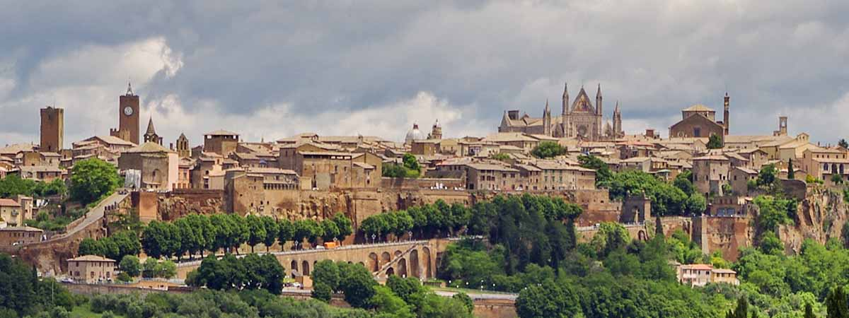 Umbria Orvieto Panoramic Medieval City View