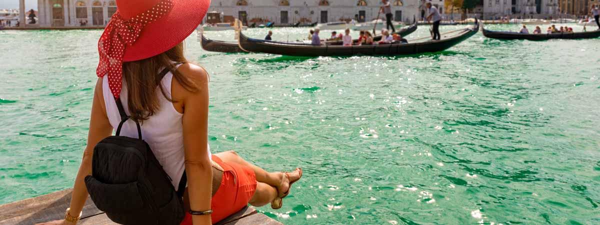 Venice Grand Canal Gondola View