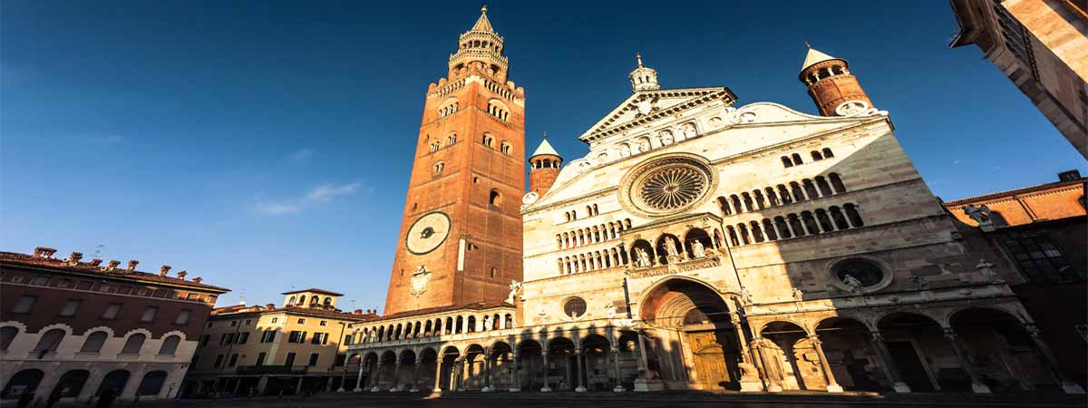 Cremona Cathedral Sunset View