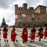Piedmont_Grinzane_Cavour_Flag_Wavers_Folklore_History_Culture_People