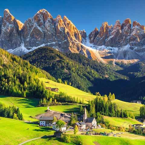 Trentino Alto Adige Santa Maddalena and Dolomites