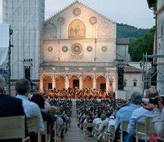 Spoleto Umbria Musical performance in the public square