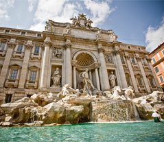 Rome Italy Trevi Fountain in the Eternal City