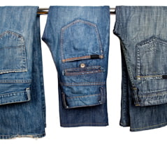 blue jeans are from Genoa Italy