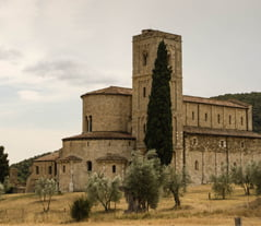 Sant Antimo Abbey Montalcino Tuscany view