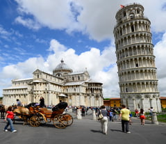 The Leaning Tower of Pisa view