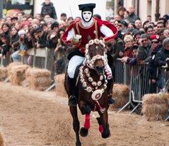 Sardinia Sartiglia Carnival Mask in Oristano