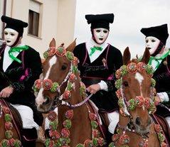 Sartiglia Carnival masks in Oristano Sardinia