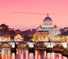 Rome View from the Tiber River