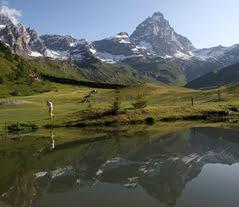 Mattherhorn Mount Cervino Italy Aosta Valley Golf Club
