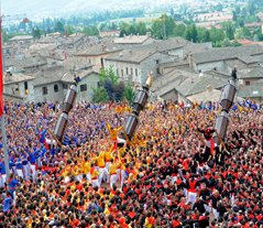 Gubbio Umbria Festa dei Ceri