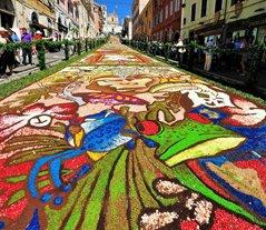 Genzano spring festival infiorata