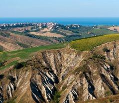 Abruzzo Atri Natural park panoramic view
