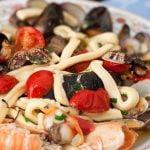 Linguine Seafood Pasta Dish Amalfi Coast