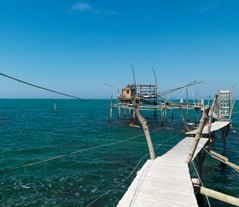 Trabocco Abruzzo typical Fisherman hut