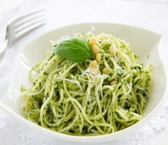 Pasta al pesto Ligurian dish