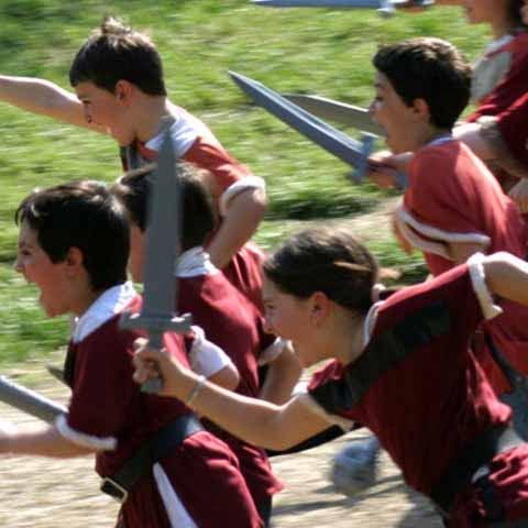 Emilia_Piacenza_Gropparello_Castle_Kids_Playing